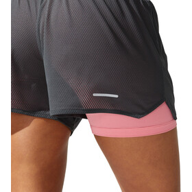 "asics Ventilate 2-N-1 3,5"" Shorts Dames, graphite grey/peach petal"